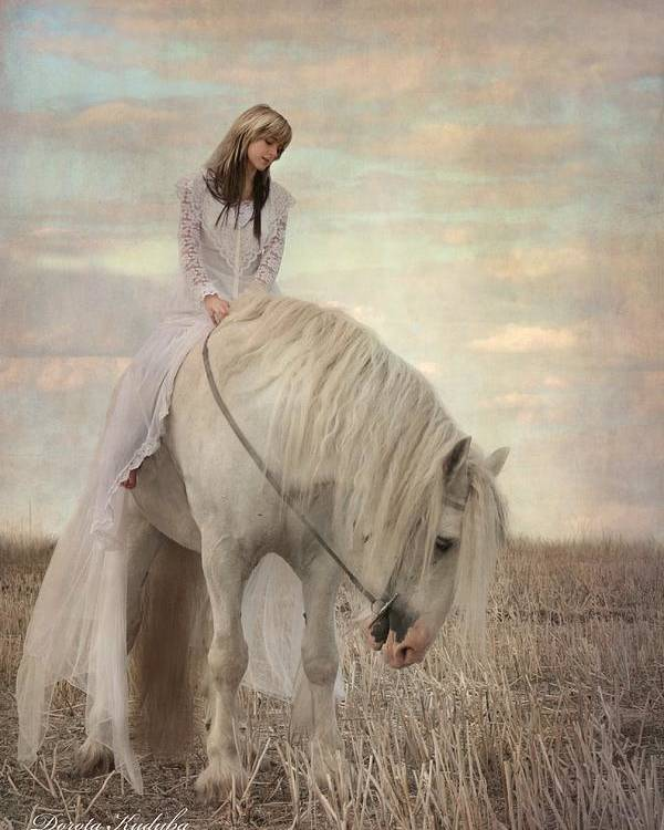 Horse Poster featuring the photograph Lost Elves 2 by Dorota Kudyba