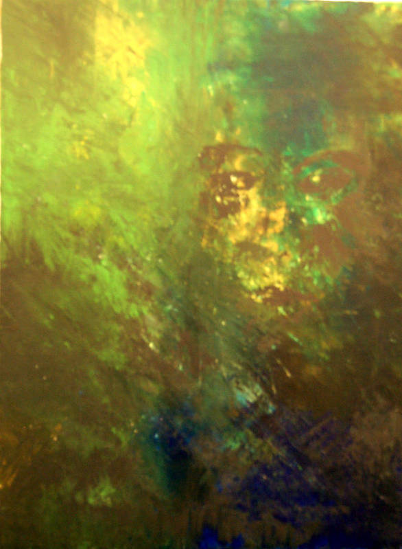 Abstract Poster featuring the painting Lost Soul Or In The Garden by DeLa Hayes Coward