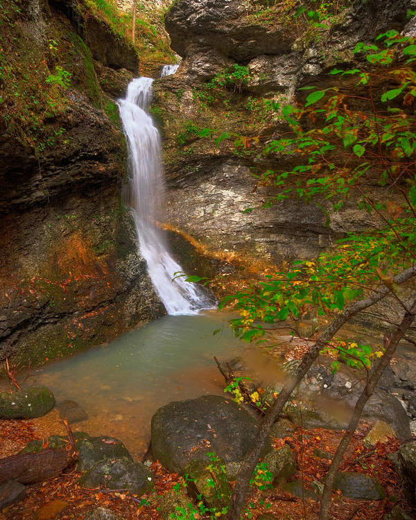 Landscape Poster featuring the photograph Lost Valley Falls by Ryan Heffron