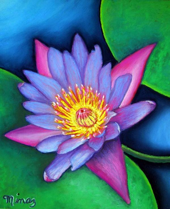 Flower Poster featuring the painting Lotus Divine by Minaz Jantz