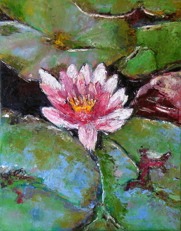 Knife Poster featuring the painting Lotus Of The Pond by Lou Ewers