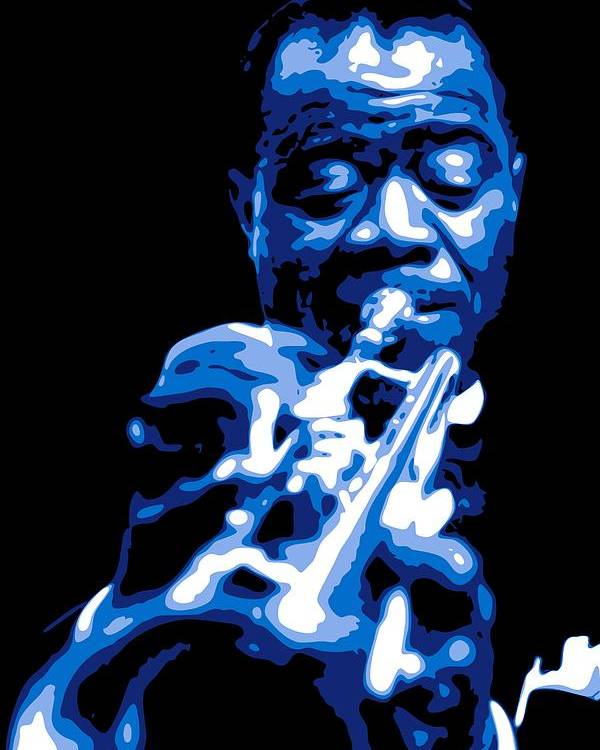 Louis Armstrong Poster featuring the digital art Louis Armstrong by DB Artist