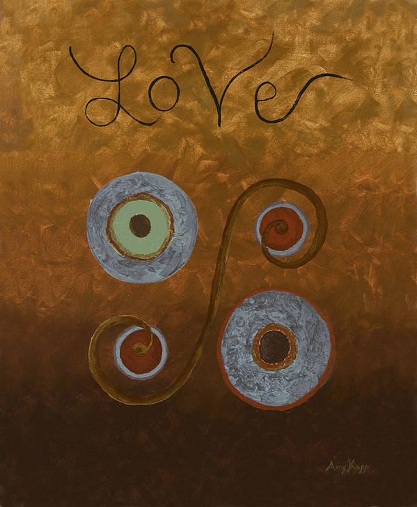 Modern Poster featuring the painting Love by Amy Parker
