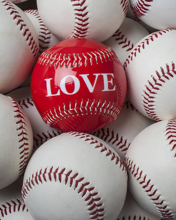 Love Baseball Poster featuring the photograph Love Baseball by Garry Gay