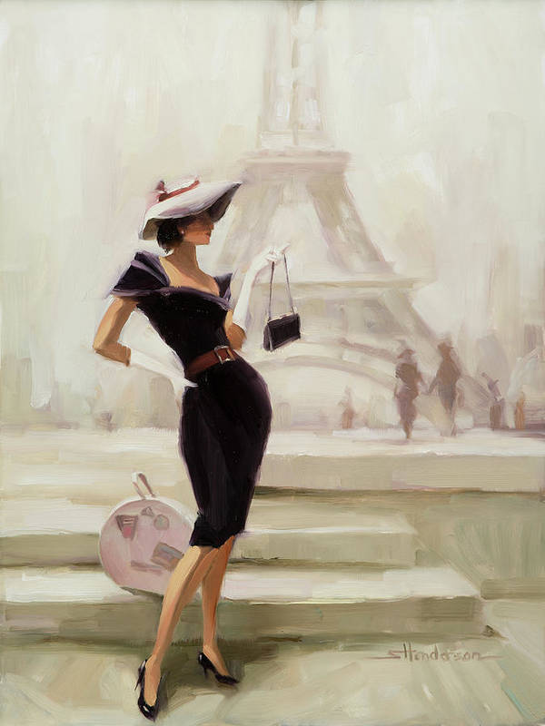 Paris Poster featuring the painting Love, from Paris by Steve Henderson