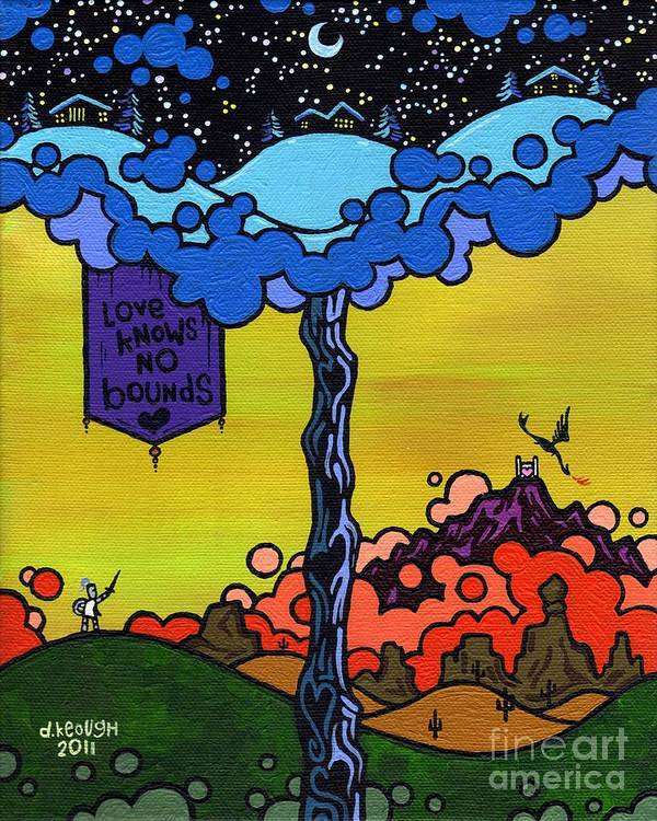 Love Poster featuring the painting Love Knows No Bounds by Dan Keough