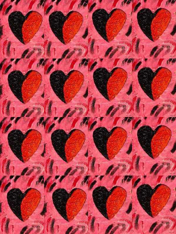 Hearts Poster featuring the painting Love My Boyfriend by Nelleke Pienaar