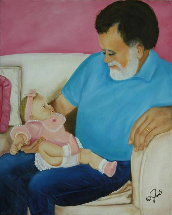 Children.child Poster featuring the painting Love Passed On Through The Years by Joni McPherson