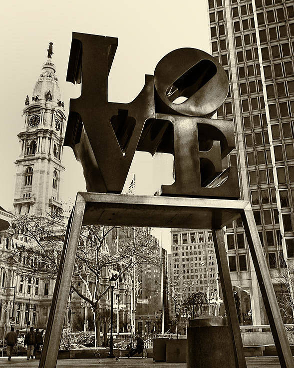 Love Poster featuring the photograph Love Philadelphia by Jack Paolini