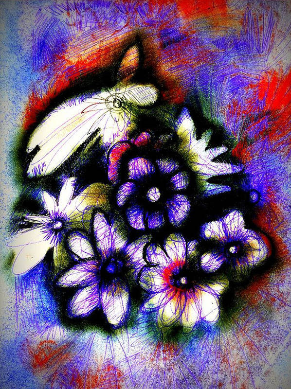 J Kamamru Poster featuring the digital art Love Posey by J Kamaru