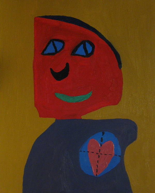 Heart Poster featuring the painting Love Shot by Frankie Graham