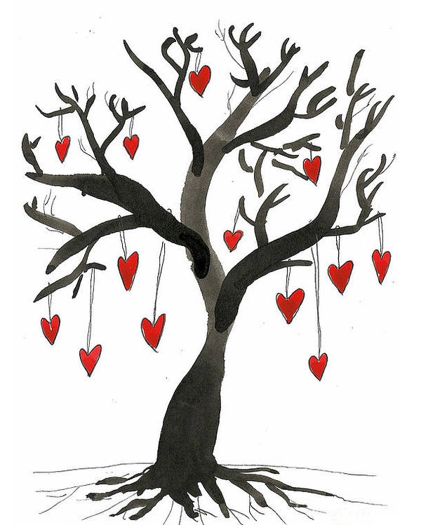 Ink Poster featuring the drawing Love Will Grow by Sarah Benning