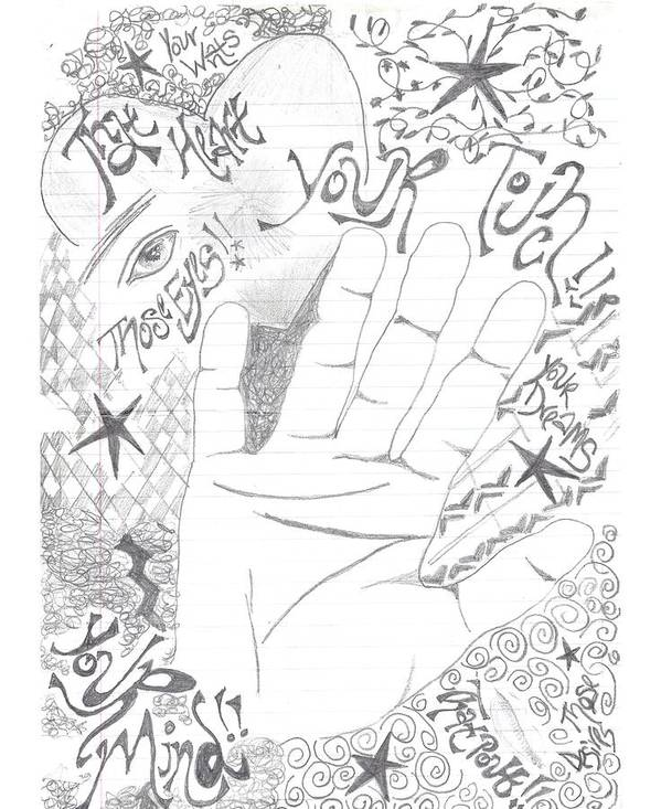 Hand Poster featuring the drawing Lovelust by Sherry Klander