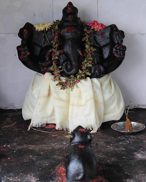 Ganesha Poster featuring the photograph Lovely Ganesha, Valparai by Jennifer Mazzucco