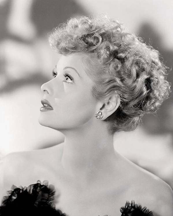 Ball Poster featuring the photograph Lucille Ball Portrait, 1940s by Everett