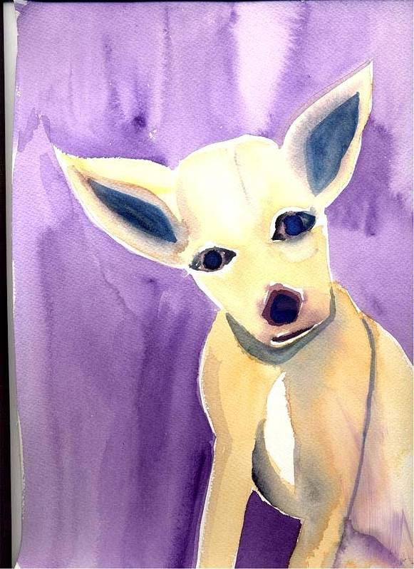Chihuahua Poster featuring the painting Lucy by Janet Doggett