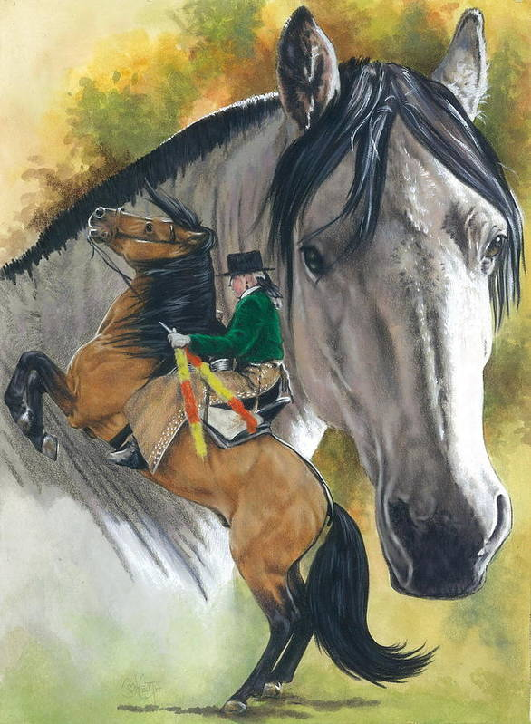 Hoof Stock Poster featuring the mixed media Lusitano by Barbara Keith