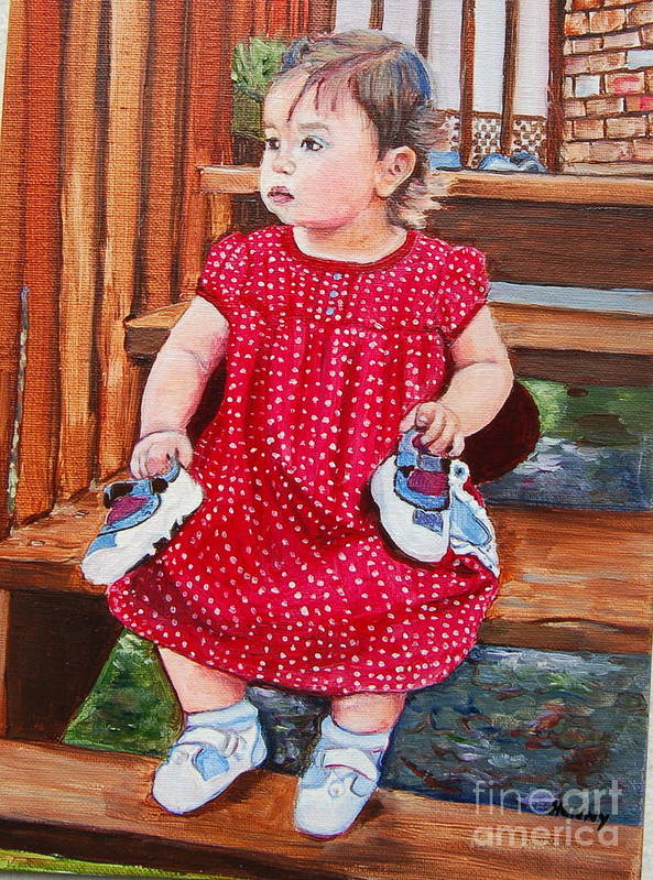 Portrait Painting Poster featuring the painting Ma Shooooze by Henny Dagenais