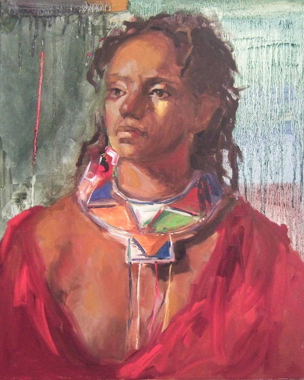 African Painting Poster featuring the print Maasai Pride by Michelle Philip