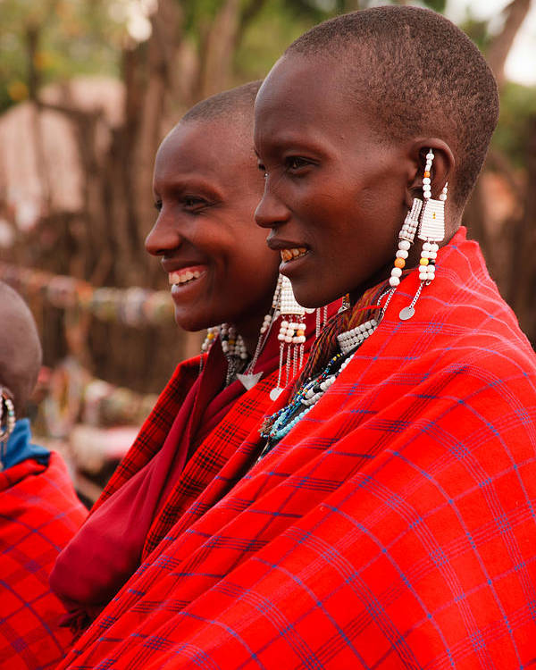 3scape Photos Poster featuring the photograph Maasai Women by Adam Romanowicz