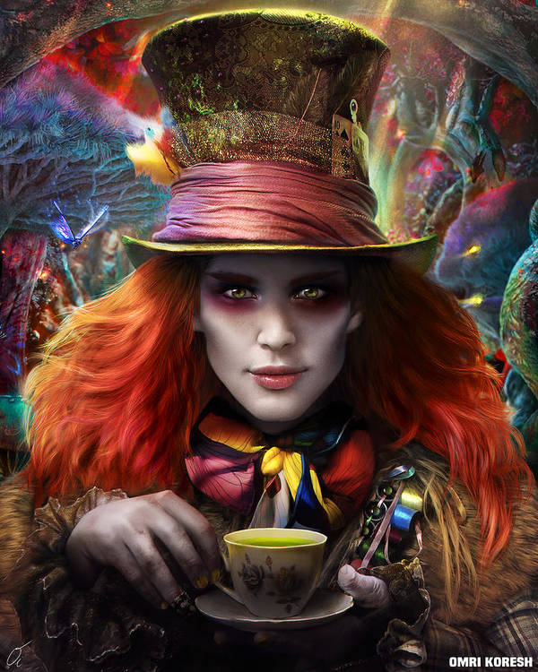 Hatter Poster featuring the digital art Mad As A Hatter by Omri Koresh