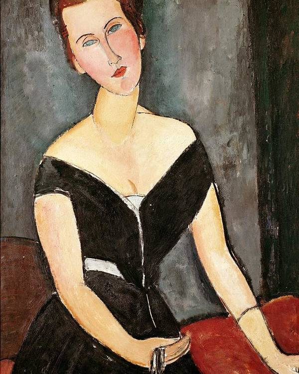 Madame Poster featuring the painting Madame G Van Muyden by Amedeo Modigliani