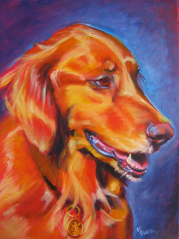 Dog Portrait Poster featuring the painting Madison by Kaytee Esser