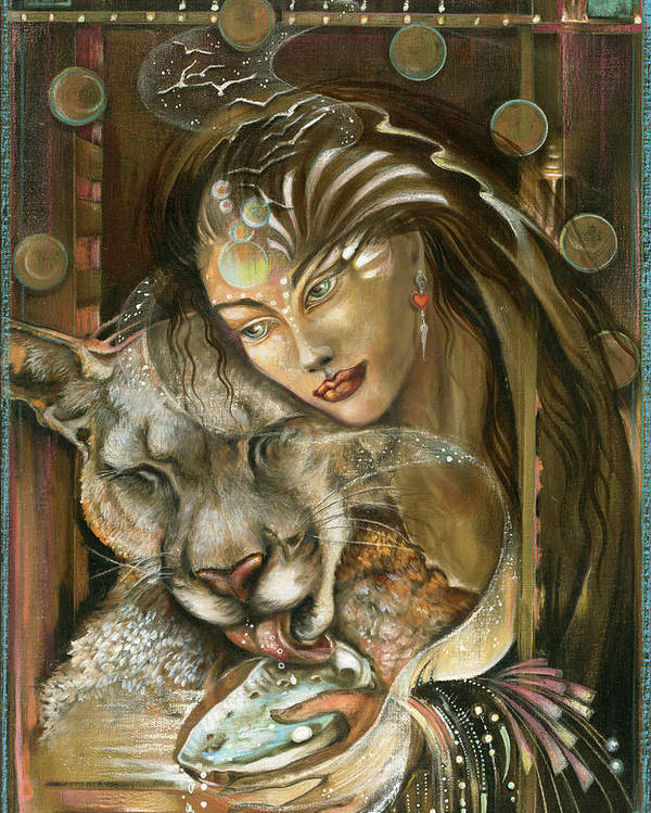 Wildlife Poster featuring the painting Madonna by Blaze Warrender
