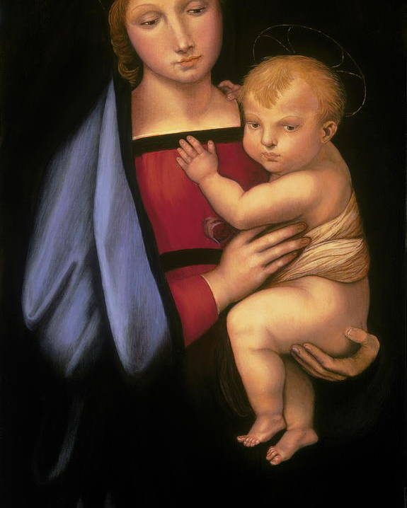 Madonna Poster featuring the painting Madonna Del Granduca by Rebecca Poole