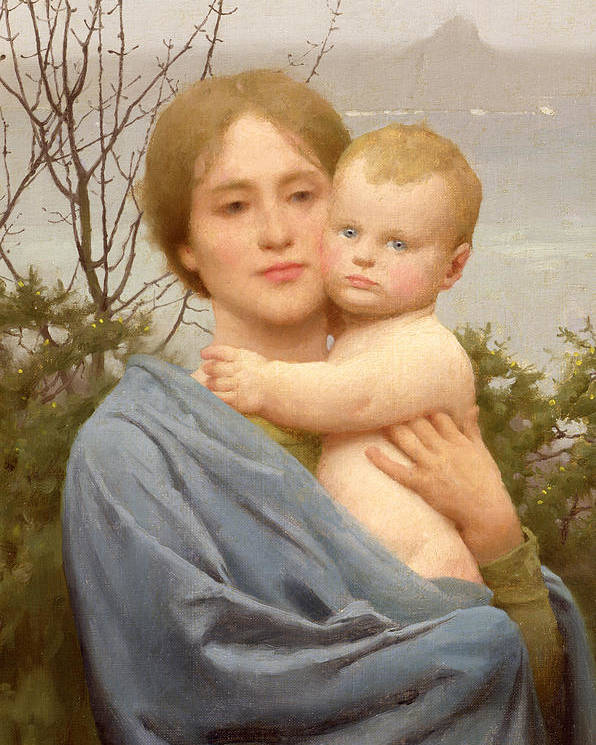 Madonna Poster featuring the painting Madonna Of The Mount by Thomas Cooper Gotch