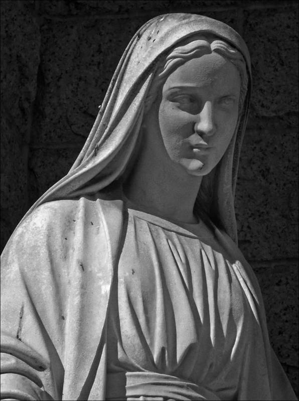 Statue Poster featuring the photograph Madonna Of West 96th Street by Robert Ullmann