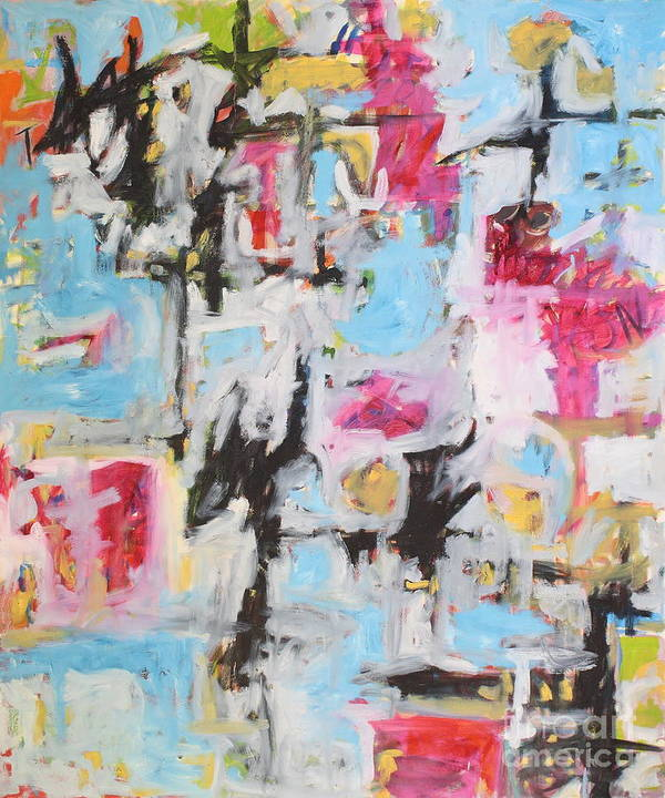 Painting Poster featuring the painting Magenta Abstract I by Michael Henderson