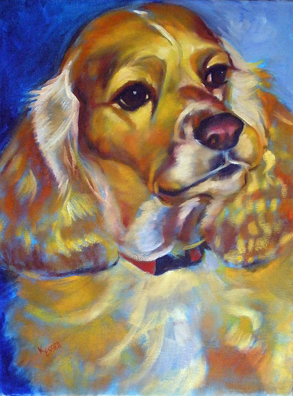 Cocker Spaniel Painting Poster featuring the painting Maggie Maye by Kaytee Esser