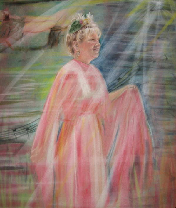 Mother Nature Poster featuring the pastel Magic Mother Nature by Larry Whitler
