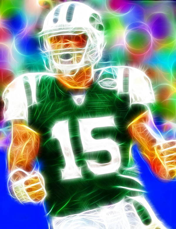 Ny Jets Poster featuring the painting Magical Tim Tebow by Paul Van Scott