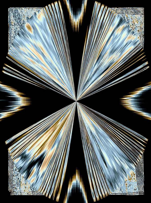 Abstract Poster featuring the digital art Magnetism 2 by Will Borden