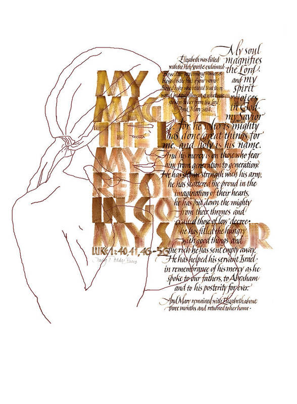 Christian Poster featuring the painting Magnificat by Judy Dodds