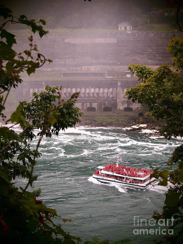 Canada Poster featuring the photograph Maid Of The Mist Canadian Boat by Jennifer Craft