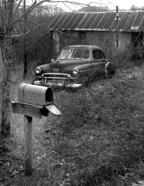 Ansel Adams Poster featuring the photograph Mailboxcar by Curtis J Neeley Jr