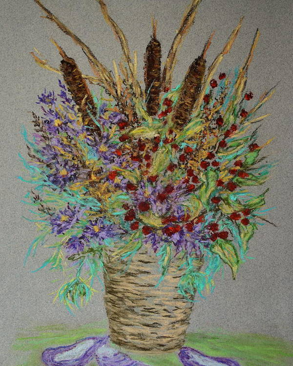 Flowers Poster featuring the painting Maine Bouquet by Collette Hurst