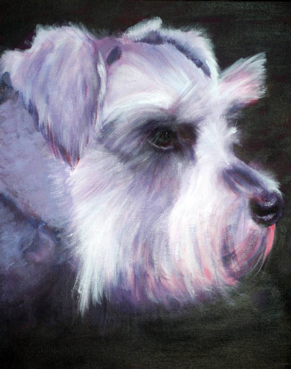 Dog Poster featuring the painting Maizee by Fiona Jack
