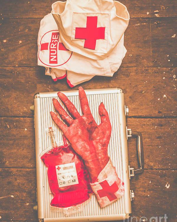 Make Your Own Frankenstein Medical Kit Poster