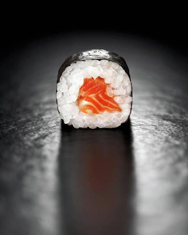 Sushi Poster featuring the photograph Maki Sushi Roll With Salmon by Johan Swanepoel