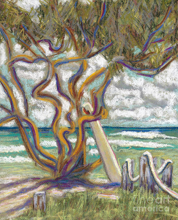 Art Poster featuring the painting Malaekahana Tree by Patti Bruce - Printscapes