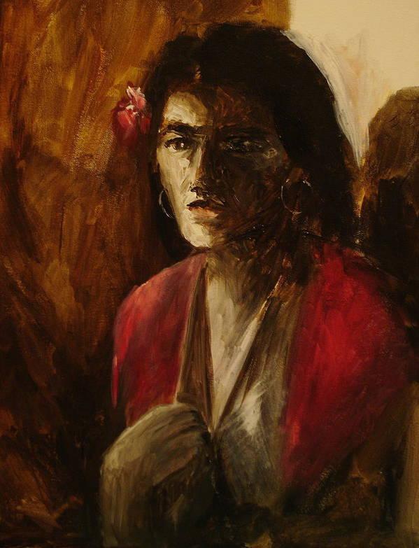 Malaguena Poster featuring the painting Malaguena by Jun Jamosmos