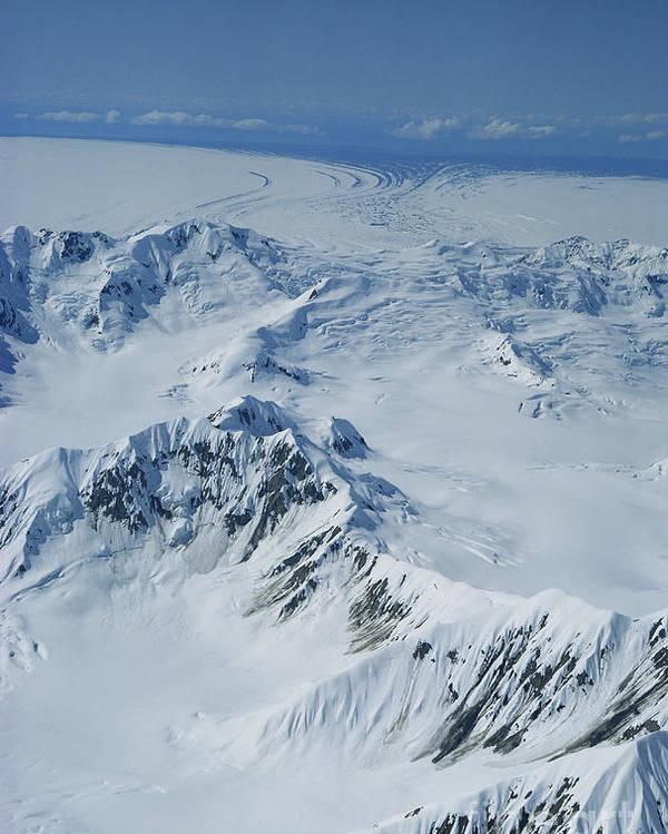 Glacier Poster featuring the photograph Malaspina Glacier by Joseph Rychetnik