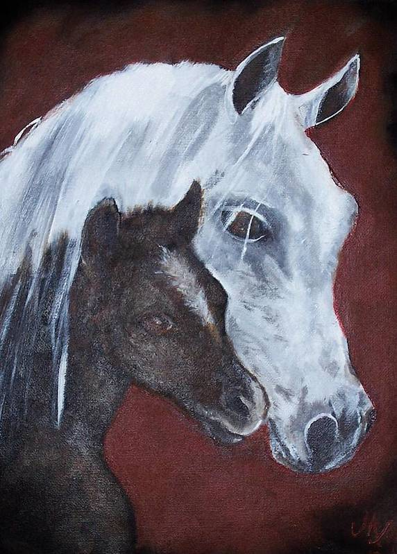 Horse Poster featuring the painting Mama by Martha Mullins