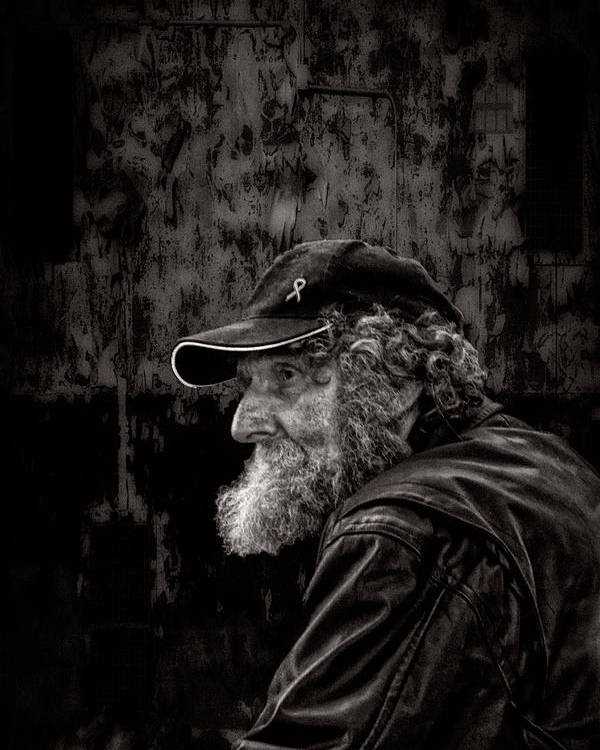 Beard Poster featuring the photograph Man With A Beard by Bob Orsillo