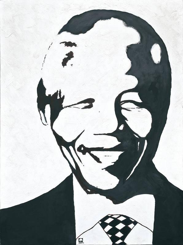 Mandela By Emeka! Poster featuring the painting Mandela by Emeka Okoro