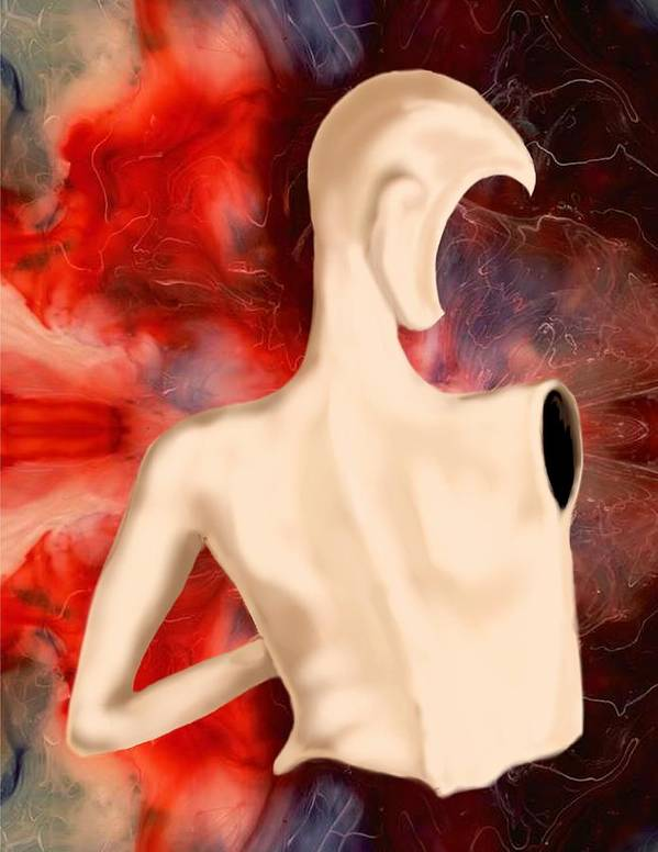 Woman Fashion Naked Surreal Abstract Poster featuring the digital art Manequin by Veronica Jackson
